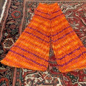 Vintage 60's missoni palazzo pants chevron print